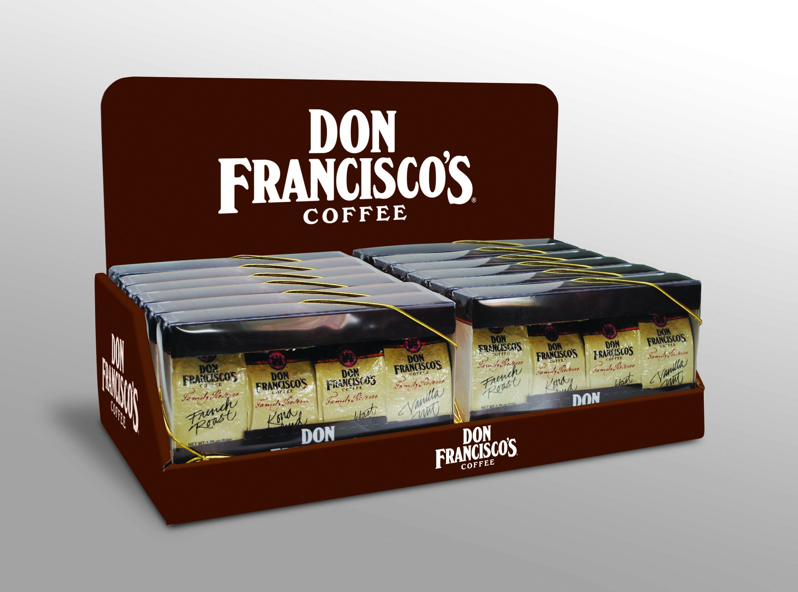 Don Francisco display brwn